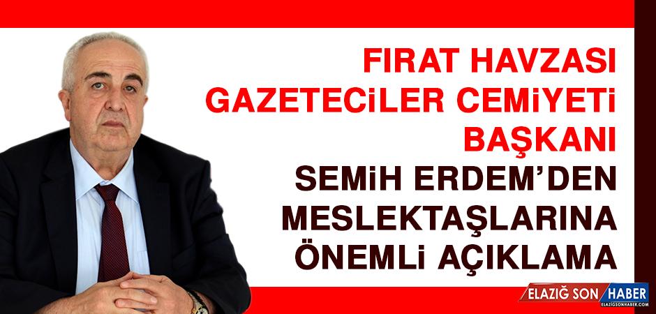 FHGC Başkanı Erdem'den Meslektaşlarına Önemli Açıklama