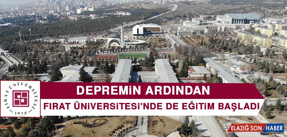 Fırat Üniversitesi'nde de Eğitim Başladı