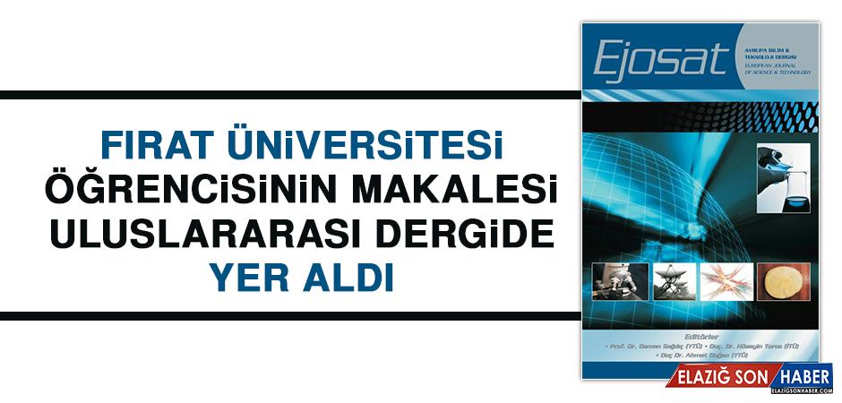 Fırat Üniversitesi Öğrencisinden Bir Başarı Daha