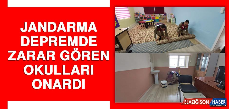 Jandarma Depremde Zarar Gören Okulları Onardı