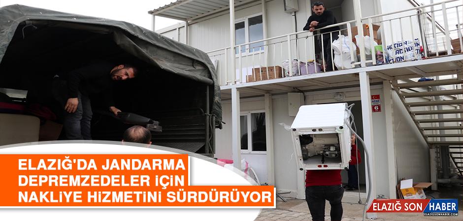 Jandarma, Depremzedeler İçin Nakliye Hizmetini Sürdürüyor