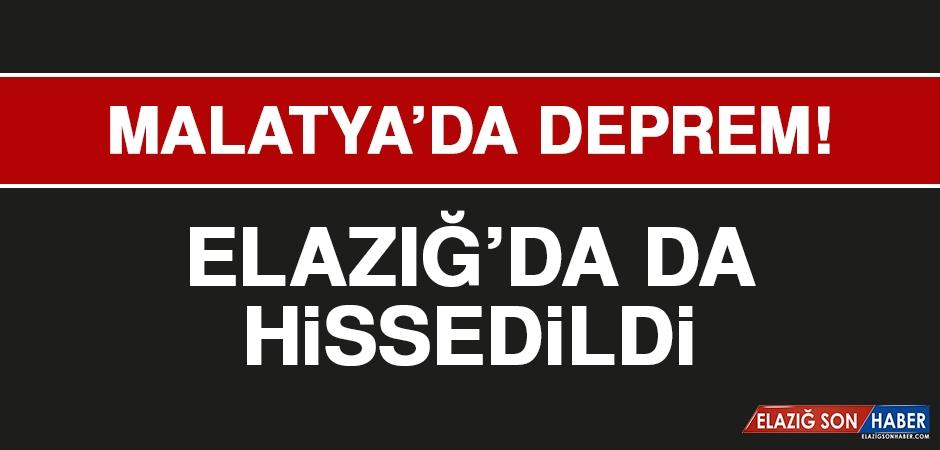 Malatya'da Meydana Gelen Deprem Elazığ'da da Hissedildi