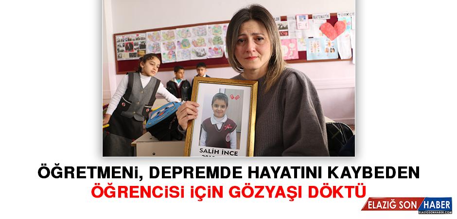 Öğretmeni, Depremde Hayatını Kaybeden Öğrencisi İçin Gözyaşı Döktü