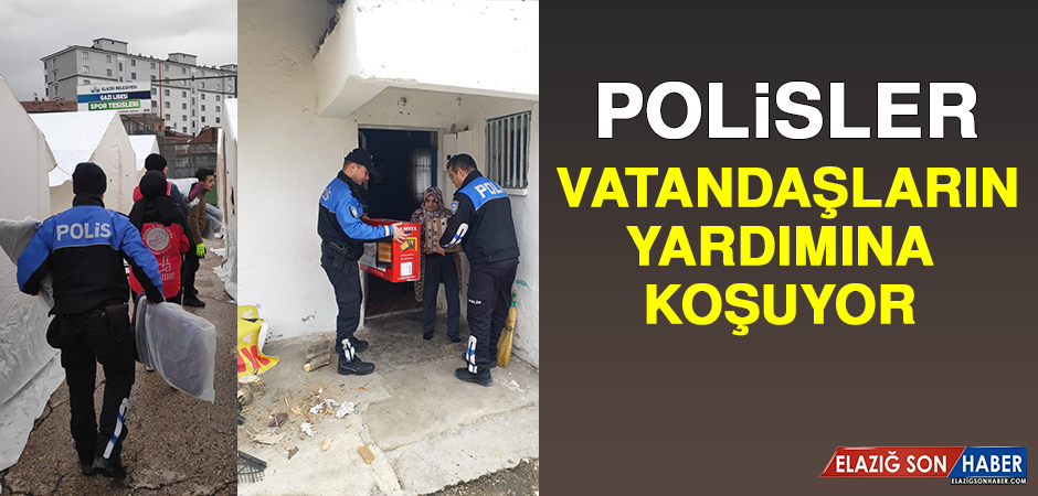 Polisler Vatandaşın Yardımına Koşuyor