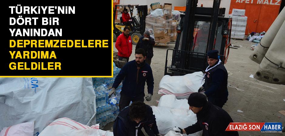 Türkiye'nin Dört Bir Yanından Depremzedelere Yardıma Geldiler