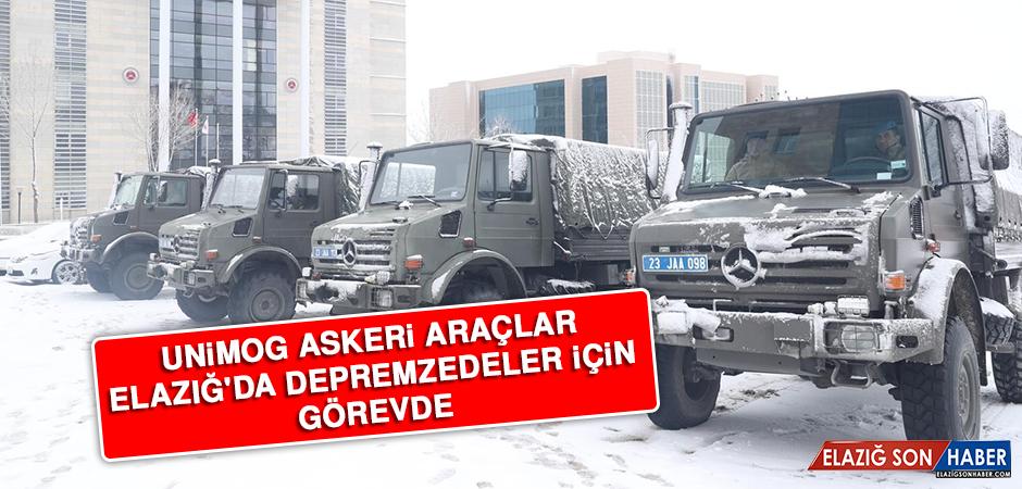 Unimog Askeri Araçlar Elazığ'da Depremzedeler İçin Görevde