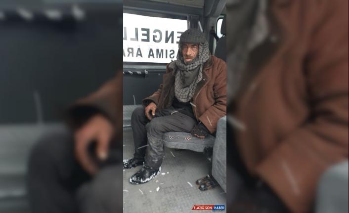 Van'da sokakta kalan kişiye belediye ekipleri sahip çıktı