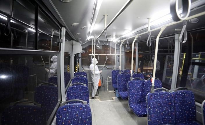 Van'daki toplu taşıma araçlarında koronavirüs önlemi