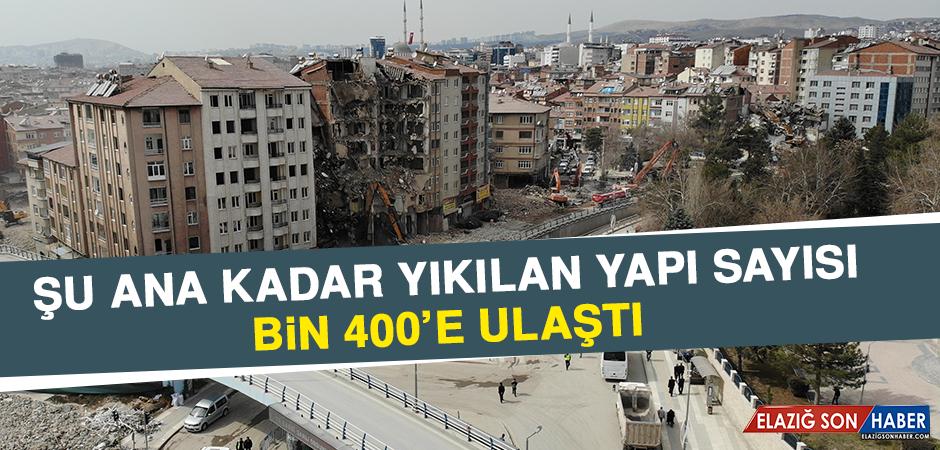 Deprem Sonrası Bin 400 Yapı Yıkıldı, Çalışmalar Sürüyor