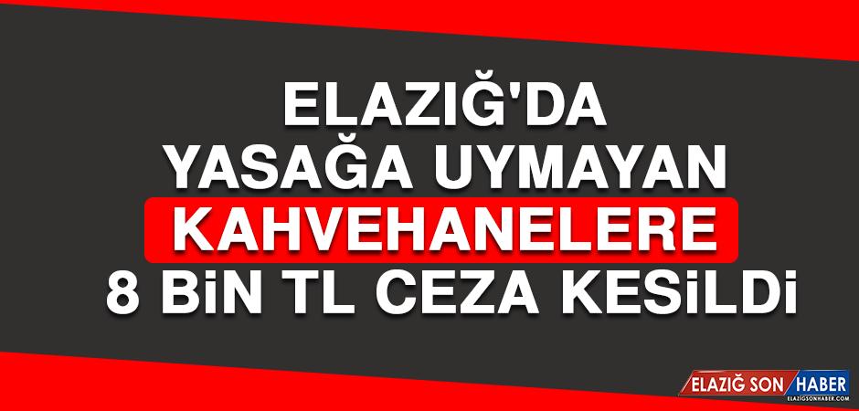 Elazığ'da Yasağa Uymayan Kahvehanelere 8 Bin TL Ceza Kesildi