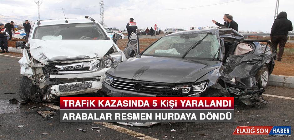 Trafik Kazasında 5 Kişi Yaralandı