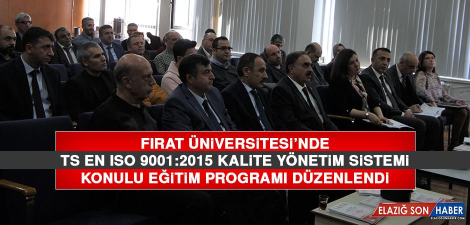 TS EN ISO 9001:2015 Kalite Yönetim Sistemi Eğitim Programı Düzenlendi