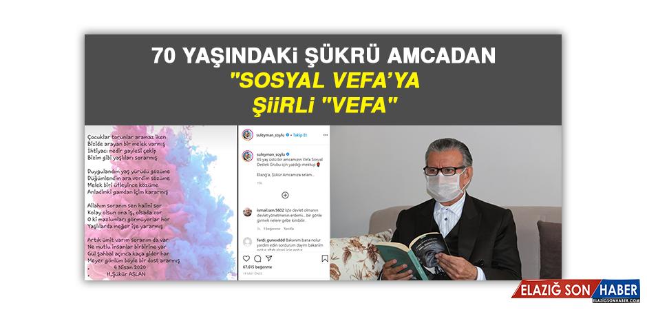 """70 Yaşındaki Şükrü Amcadan """"Sosyal Vefa'ya, Şiirli """"Vefa"""""""
