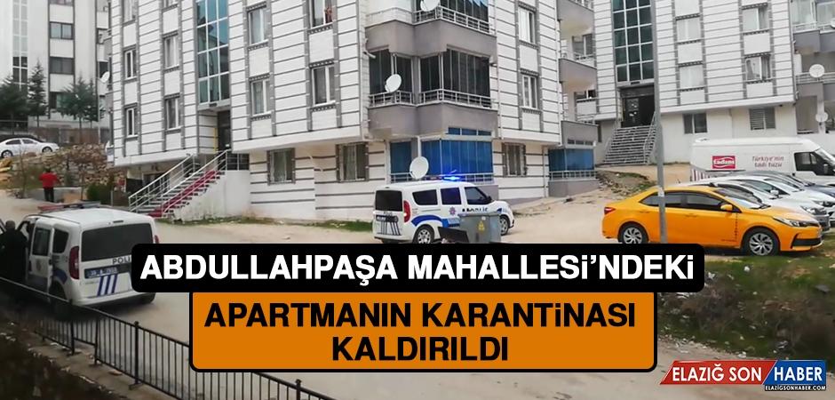 Abdullahpaşa Mahallesi'nde Bir Apartmanın Karantinası Tamamlandı