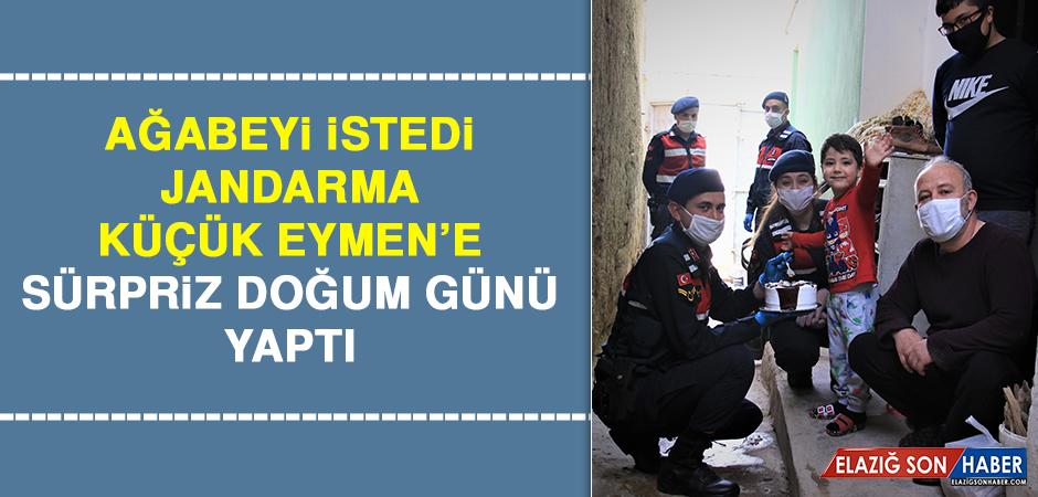 Ağabeyi İstedi, Jandarma Küçük Eymen'e Sürpriz Doğum Günü Yaptı