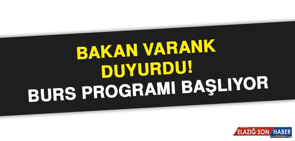 Bakan Varank duyurdu! Burs programı başlıyor