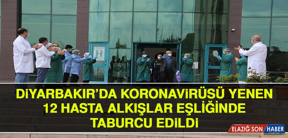 Diyarbakır'da Korona Virüsü Yenen 12 Hasta Alkışlar Eşliğinde Taburcu Edildi