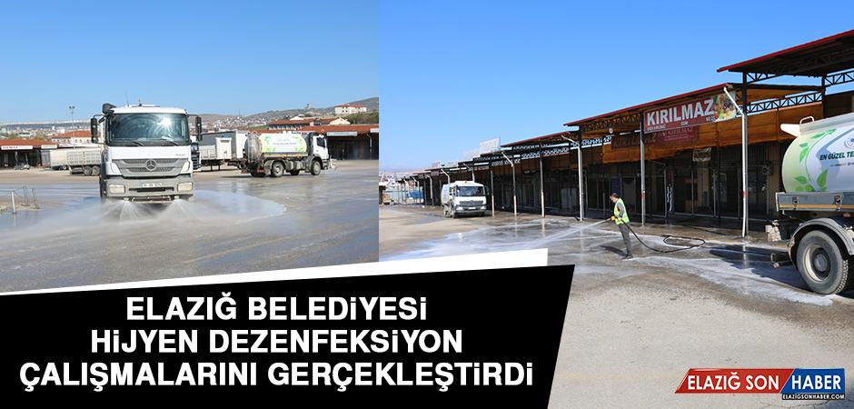 Elazığ Belediyesi Hijyen Dezenfeksiyon Çalışmalarını Gerçekleştirdi