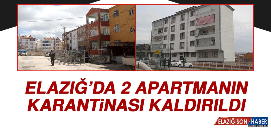 Elazığ'da İki Apartmanın Karantinası Kaldırıldı