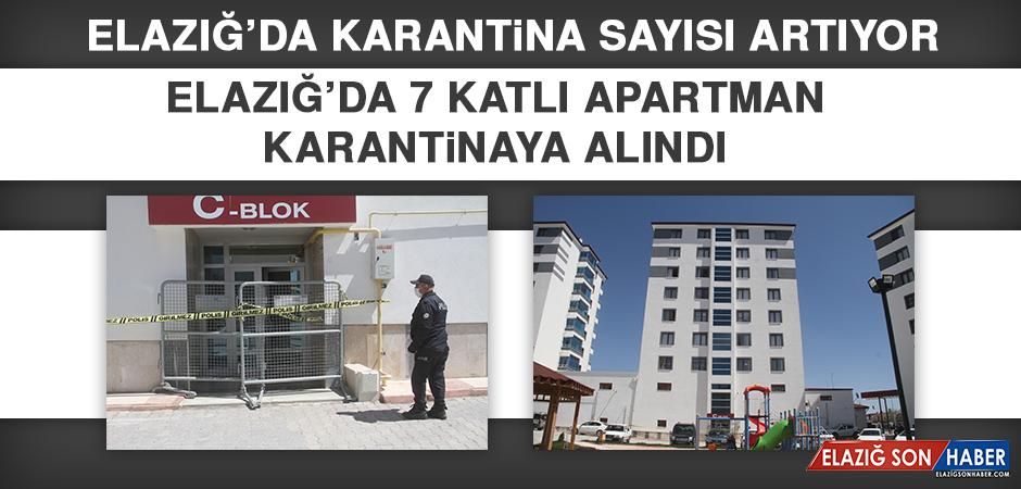 Elazığ'da 7 Katlı Apartman Karantinaya Alındı