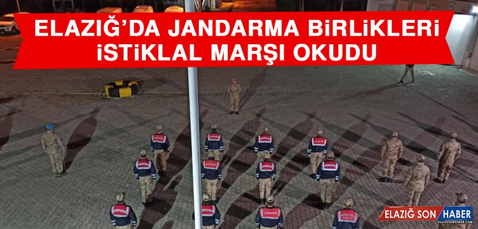 Elazığ'da Jandarma Birlikleri İstiklal Marşı Okudu