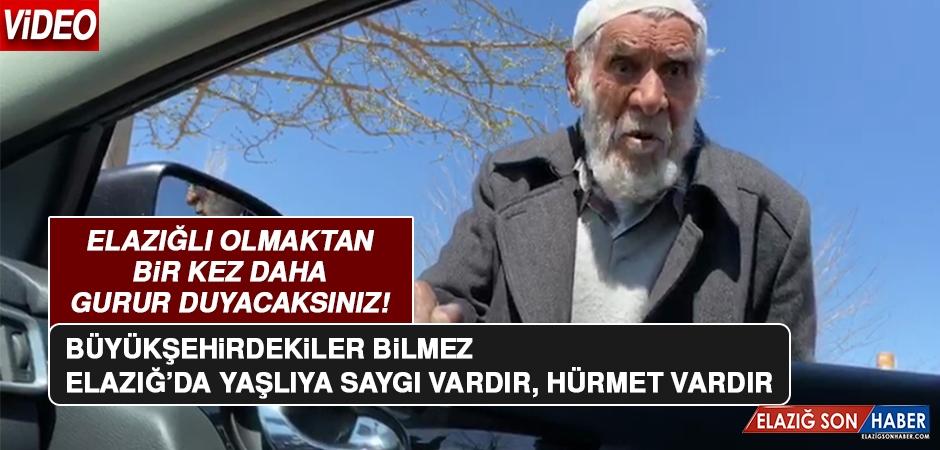 Elazığ'da Yaşlı Amcayla Vatandaşın Konuşması Duygulandırdı!