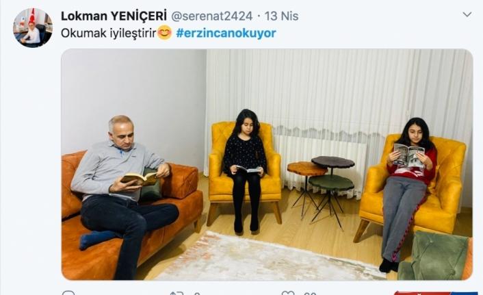 Erzincan'da sosyal medyadan başlatılan kitap okuma etkinliğine ilgi