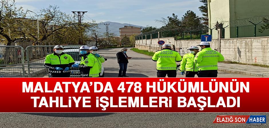 Malatya'da 478 Hükümlünün Tahliye İşlemleri Başladı