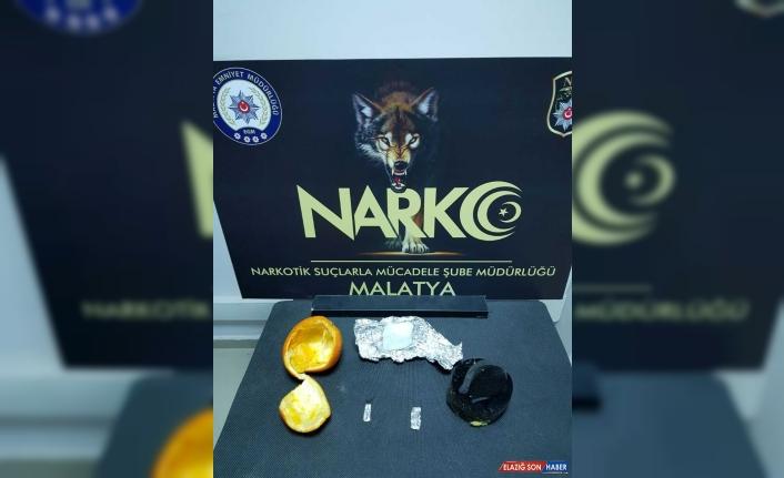Malatya'da portakal içerisine gizlenmiş uyuşturucu bulundu