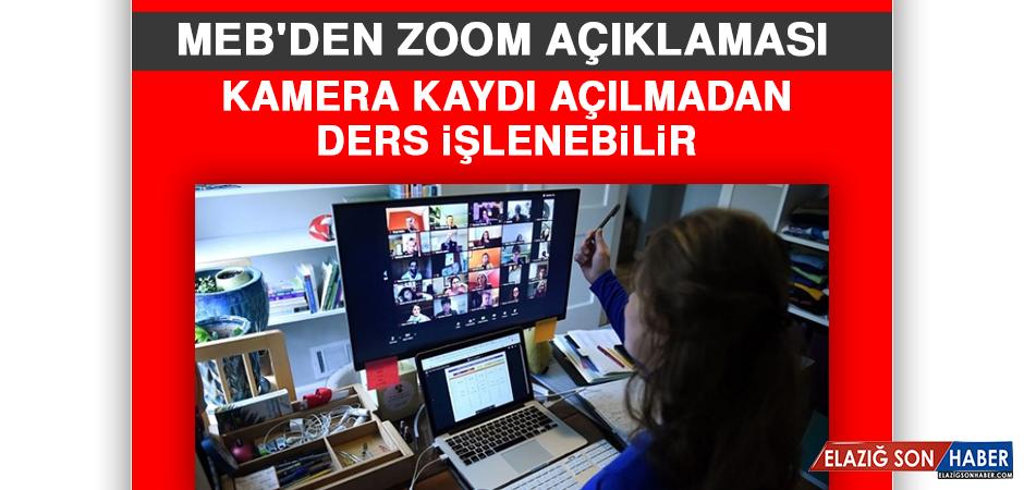 MEB'den Zoom Açıklaması: Kamera Kaydı Açılmadan Ders İşlenebilir