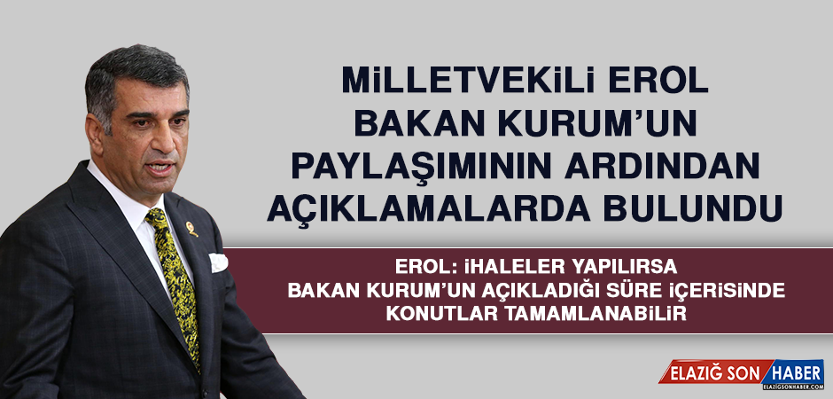 """Milletvekili Erol: """"2020 sonuna kadar 20 bin 417 adet konutun teslim edilecek olması iyi bir haber"""""""