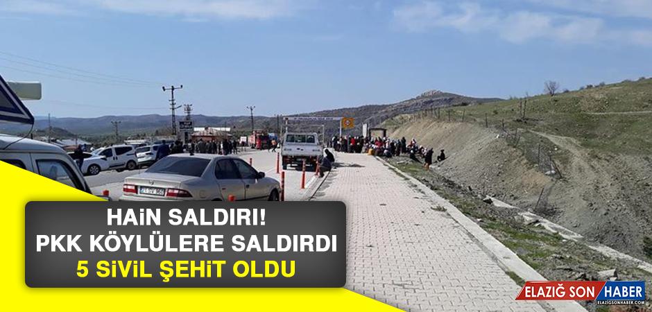 PKK Köylülere Saldırdı, 5 Sivil Şehit Oldu