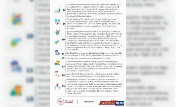 Sağlık Bakanlığından kapalı ofis ve iş yerleri için Kovid-19 uyarıları