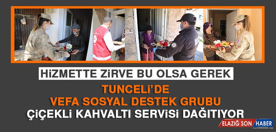 Tunceli'de Vefa Sosyal Destek Grubu Çiçekli Kahvaltı Servisi Dağıtıyor