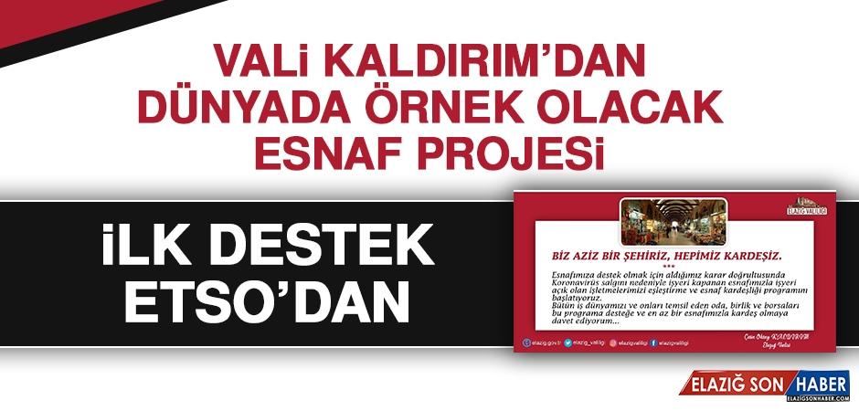 Vali Kaldırım'ın Örnek Projesine İlk Destek ETSO'dan Geldi