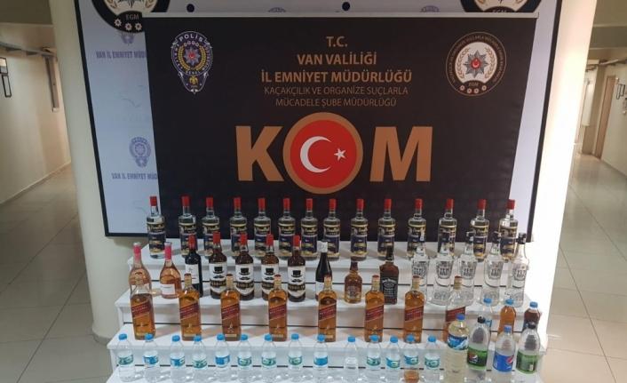 Van'da 73 şişe sahte içki ele geçirildi