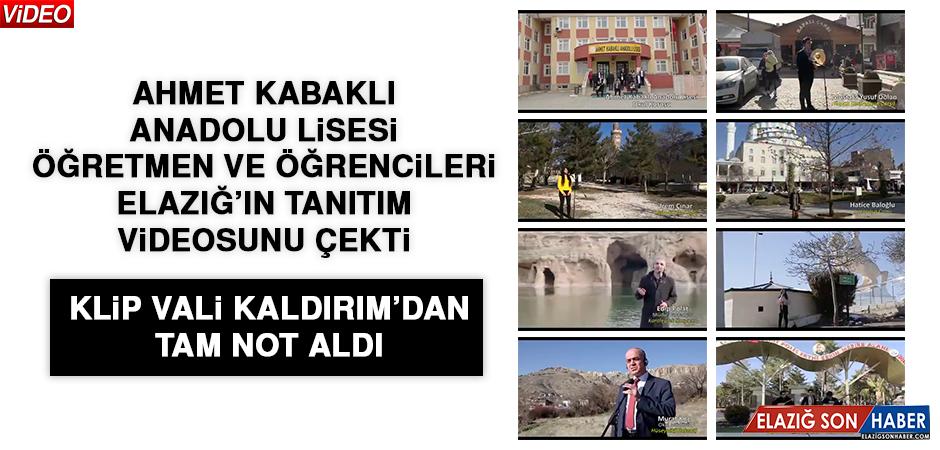 Elazığ'da Öğretmen ve Öğrencileri Elazığ'ın Tanıtım Videosunu Çekti