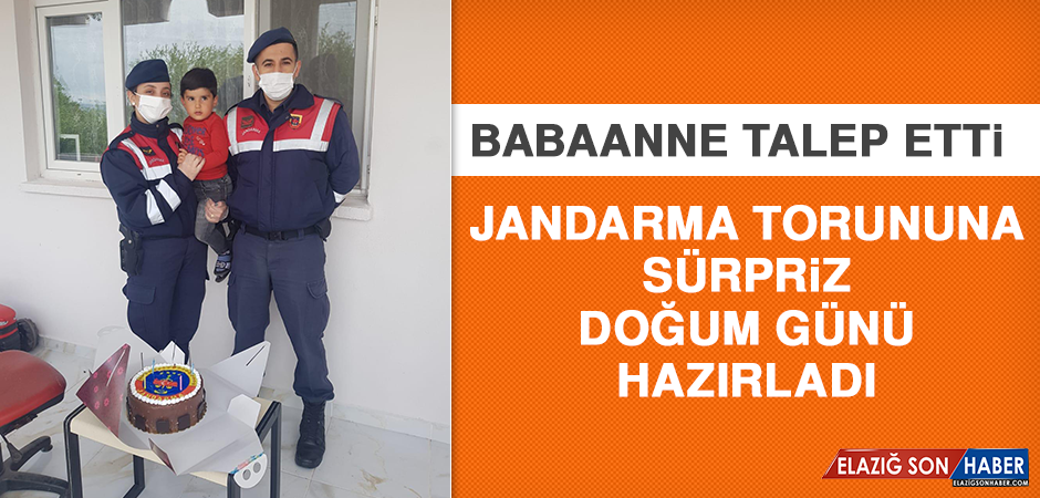 Babaanne Talep Etti, Jandarma Torununa Sürpriz Doğum Günü Hazırladı