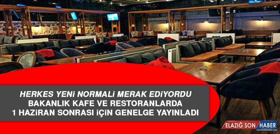 Bakanlık Kafe ve Restoranlarda 1 Haziran Sonrası İçin Genelge Yayınladı