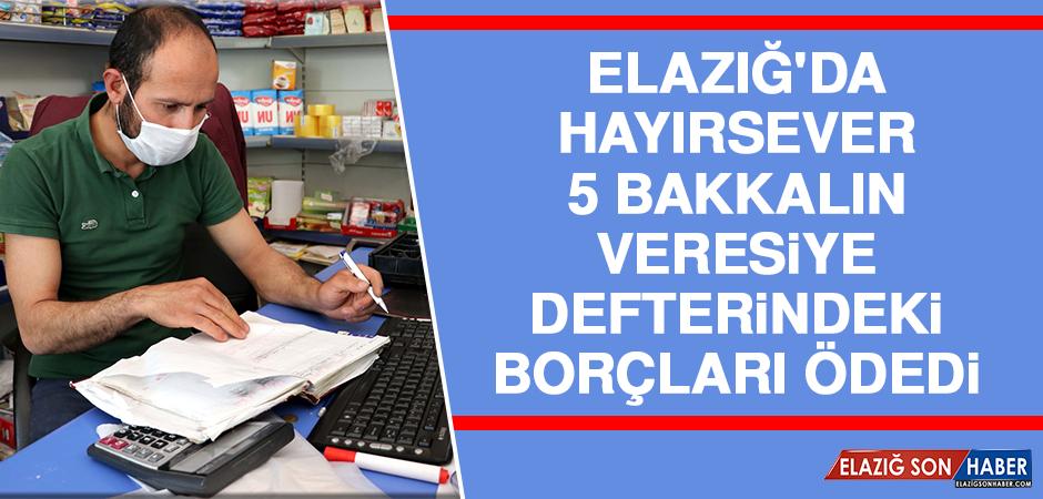 Elazığ'da Hayırsever, 5 Bakkalın Veresiye Defterindeki Borçları Ödedi