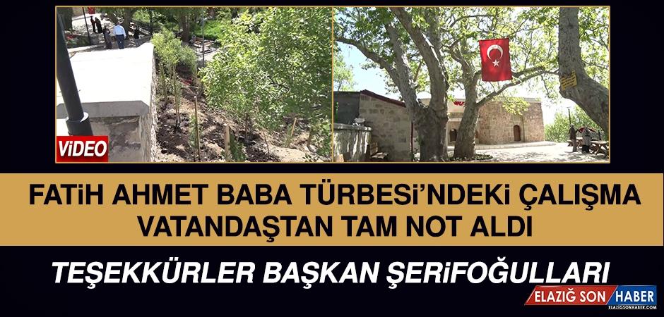 Fatih Ahmet Baba Türbesi'ndeki Çalışma Tam Not Aldı!