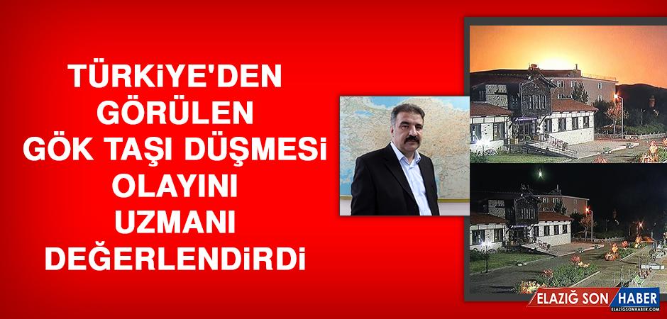 Türkiye'den Görülen Gök Taşı Düşmesi Olayını Uzmanı Değerlendirdi