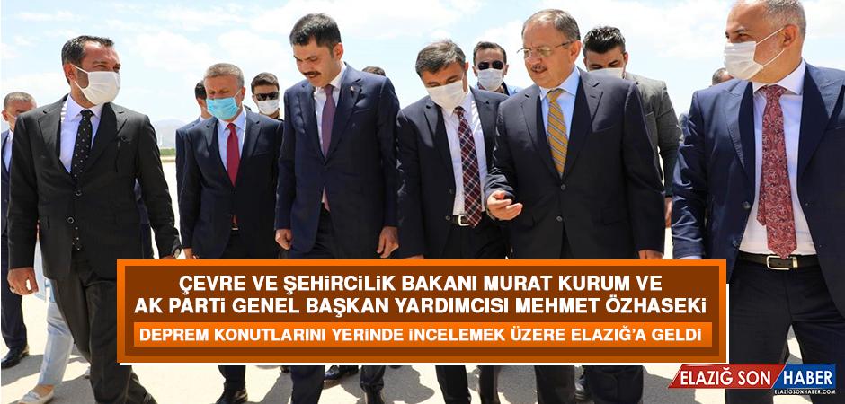 Bakan Kurum ve Başkan Özhaseki Elazığ'a Geldi
