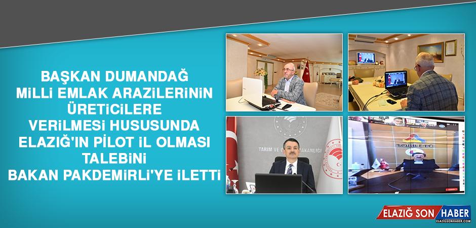Başkan Dumandağ, Talebini Bakan Pakdemirli'ye İletti
