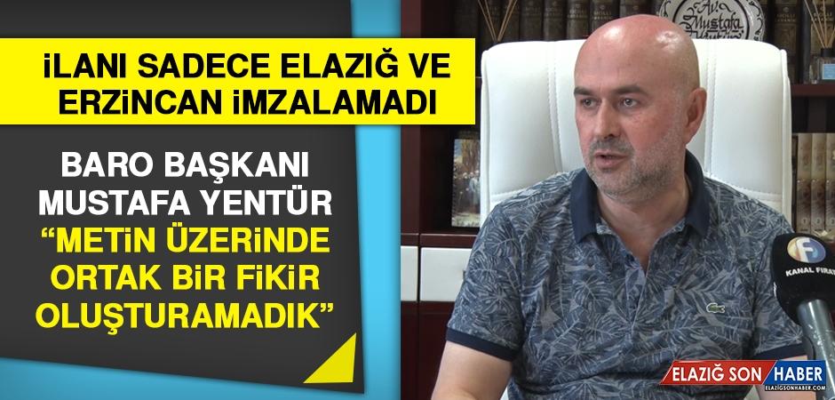 Elazığ Baro Başkanı Toplu İlanı Neden İmzalamadığını Açıkladı