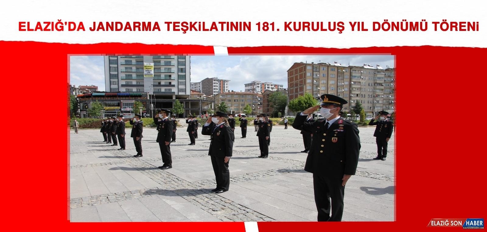 Elazığ'da Jandarma Teşkilatının 181. Kuruluş Yıl Dönümü Törenle Kutlandı