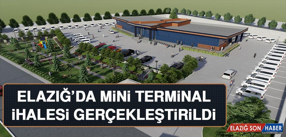 Elazığ'da Mini Terminal İhalesi Gerçekleştirildi