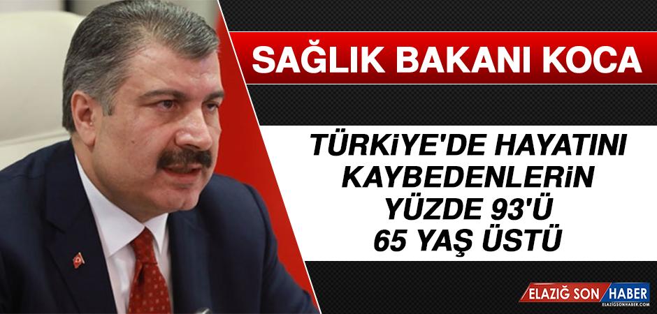 Türkiye'de Hayatını Kaybedenlerin Yüzde 93'ü 65 Yaş Üstü