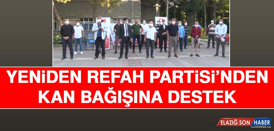 Yeniden Refah Partisi'nden Kan Bağışına Destek