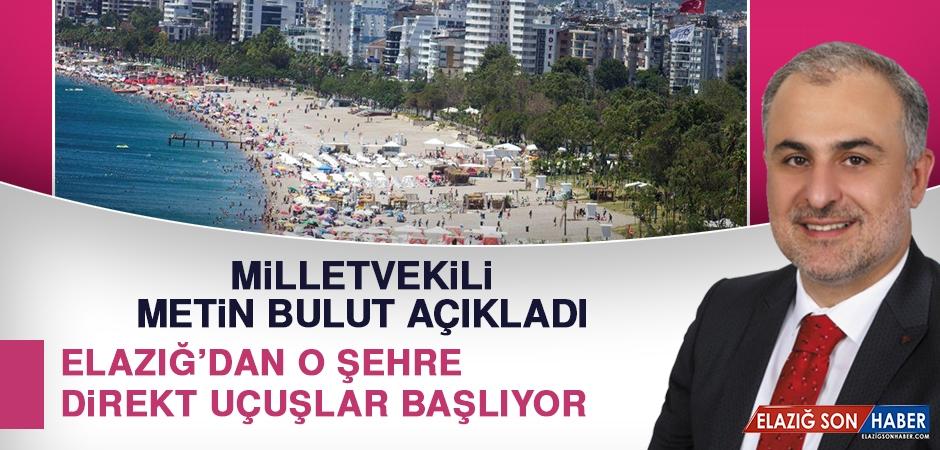 Elazığ'dan O Şehre Direkt Uçuşlar Başlıyor